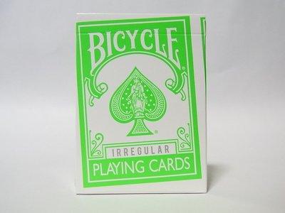 【USPCC 撲克】撲克BICYCLE不規則綠背irregular