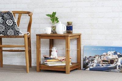 約克 柚木短板凳 (原色)【大綠地家具】100%印尼柚木實木/無上漆原木款/板凳/邊桌/化妝椅
