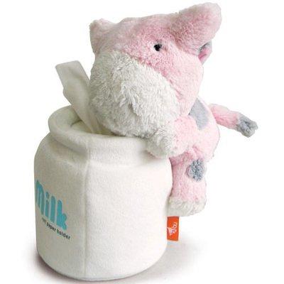 最後特價! idea-dozen 創意達人推薦! Bubu牛圓筒衛生紙座(粉紅),適用圓筒衛生紙