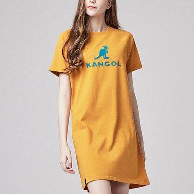 5號倉庫 KANGOL 女上衣 短袖T 長版 黃綠 6122100762 黑黃 6122100720 原價1080