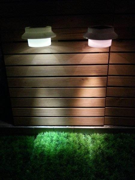 ☀傑太光能☀太陽能燈  太陽能 3LED 屋頂水槽燈 籬笆燈 柵欄燈 陽台燈 小壁燈 保固 L-03面向陽光