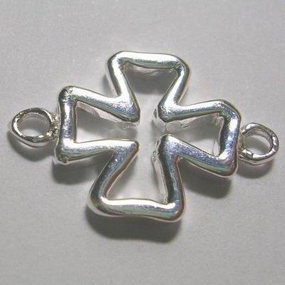 琥珀貓~【925純銀材料配件】連結配件~N7921~十字架~一個