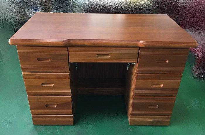 台中二手家具賣場 宏品全新中古傢俱買賣 OH0503DJF*全新樟木書桌 實木電腦桌*辦公桌 高級寫字桌 2手兒童桌椅