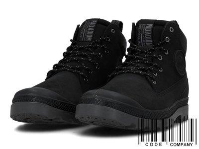 =CodE= PALLADIUM PAMPA SC OUTSIDER WP+ 防水皮革軍靴(全黑)76472-008 女