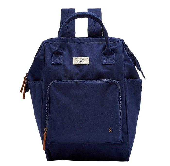 天使熊雜貨小舖~joules 大容量後背包(深藍)綿100% 全新現貨