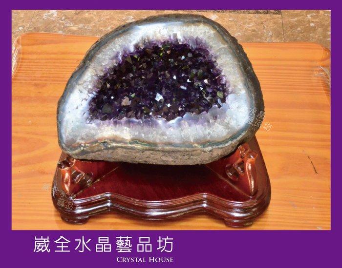 【崴全水晶】3A 頂級 天然 烏拉圭 紫晶洞 8.8kg ※ 風水石 鎮宅 招財