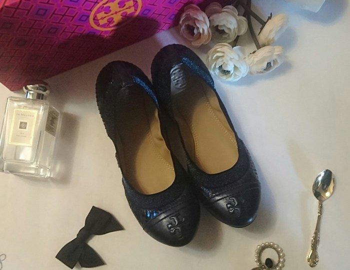 TORY BURCH托里 伯奇雙TLOGO平底芭蕾舞鞋 平底鞋 皮鞋 娃娃鞋