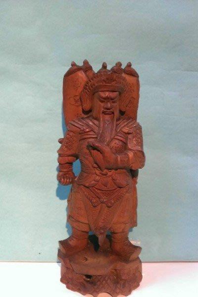 10-早期-原木雕-黃楊木(武甲戰神)-關公---