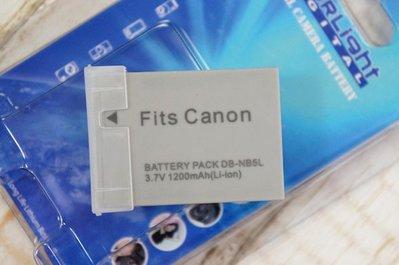 【中壢NOVA‧水世界】CANON DB-NB5L NB-5L NB5L 副廠 電池 鋰電池【一年保固直接換新】