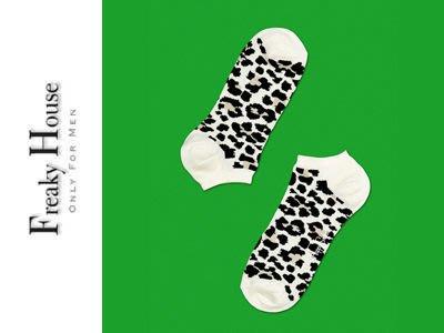 *~Freaky House~* 瑞典品牌Happy Socks Leopard Low Socks豹紋造型設計短踝襪-豹紋