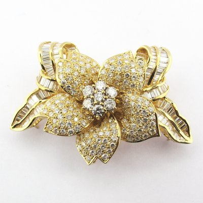 【JHT金宏總珠寶/GIA鑽石專賣】11.1ct天然鑽石胸針/材質:750(JB47-A24)