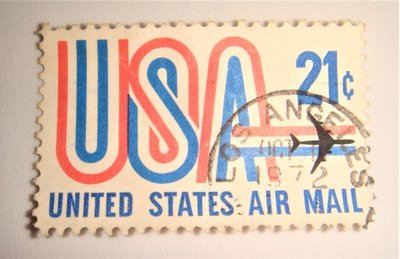 美國郵票(舊票) UNITED STATES AIR MAIL 21c 1968年