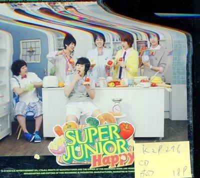 *真音樂* SUPER JUNIOR / HAPPY CD+DVD 二手 K29276