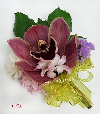 C41鮮花襟花結婚花球喜宴婚禮典禮長輩兄弟姐妹花藝