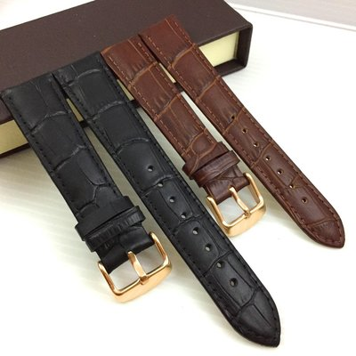 優選真皮 鱷魚紋 竹花 牛皮 真皮錶帶  黑色 咖啡 18 20 規格 送 錶帶拆卸工具  錶耳 彈簧棒