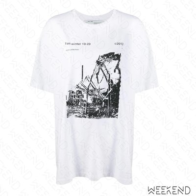 【WEEKEND】 OFF WHITE Ruined Factory 短袖 T恤 上衣 白色 19秋冬