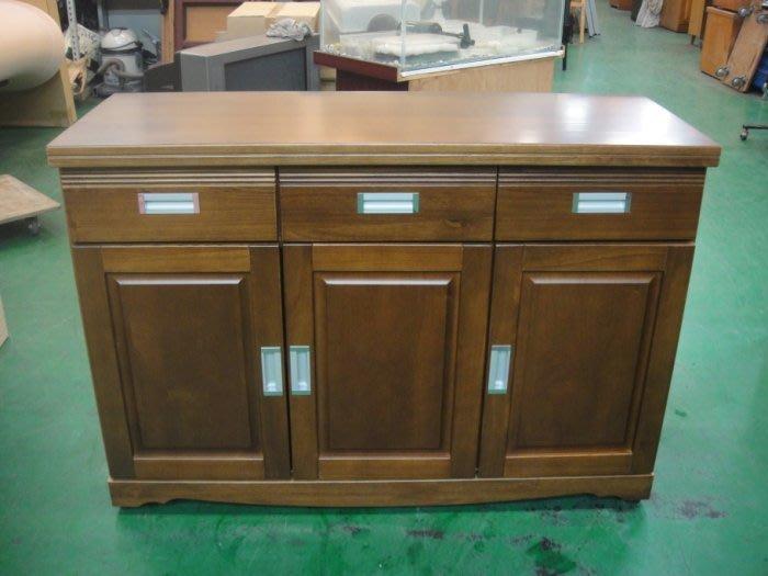 樂居二手家具 全新中古傢俱賣場 A-989*樟木色餐櫃*碗盤收納櫃 隔間屏風櫃 展示櫃 高低櫃 電視櫃 平面櫃 置物櫃