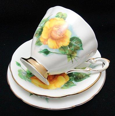 【timekeeper】 英國製Paragon派拉岡世界六大玫瑰系列三件式咖啡杯+盤-4(免運)