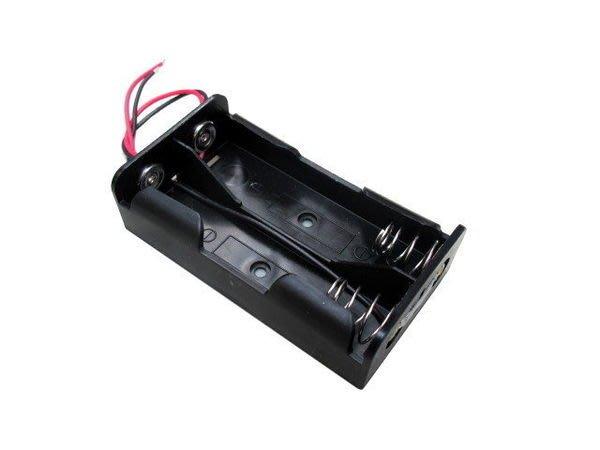 《宇捷》【E39b】18650 電池盒 2節18650鋰電池盒 並聯 充電座 帶線(不含電池)