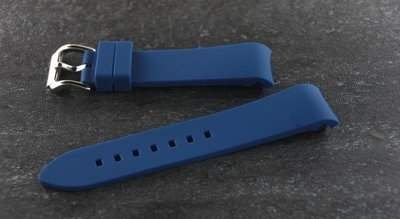 20mm or 22mm藍色黑色白色灰色彎頭矽膠錶帶替代rolex seiko rubberB鎗魚 劍魚 水鬼 遊艇