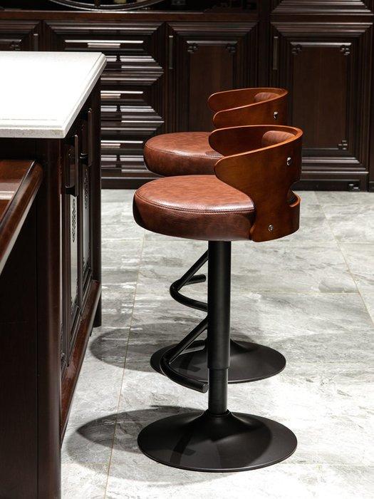 阿雨生活歐式吧臺椅升降椅旋轉酒吧椅前臺吧臺凳子高腳凳現代簡約吧檯高腳凳