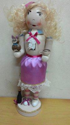 胡桃鉗公仔 38公分娃娃系列 (粉紅裙)