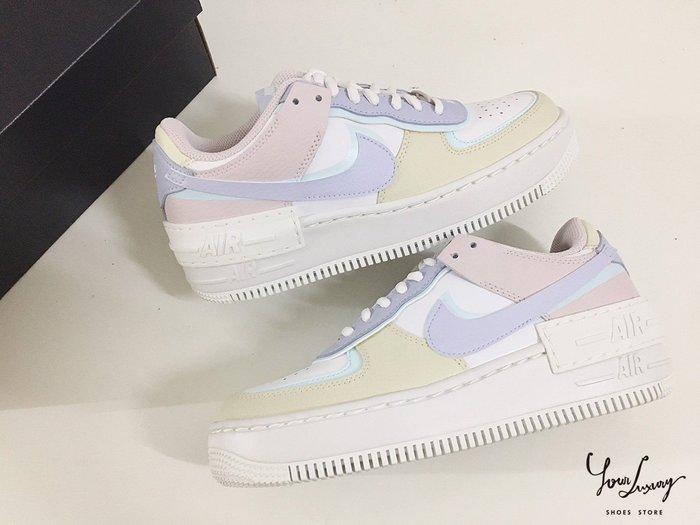 【Luxury】NIKE 馬卡龍 粉藍 拖鞋 球鞋 Air Force 1 AF1 Benassi 拼接 板鞋 粉藍
