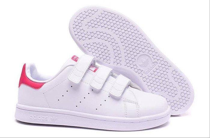 免運【日貨代購屋】日本代購Adidas Stan Smith 史密斯 白桃 魔鬼氈 方便 時尚復古運動鞋 情侶鞋 余文樂