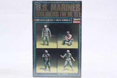 【統一模型】HASEGAWA《美國 海軍陸戰隊士兵 U.S. MARINES SOLDIERS》1:35 # 87004