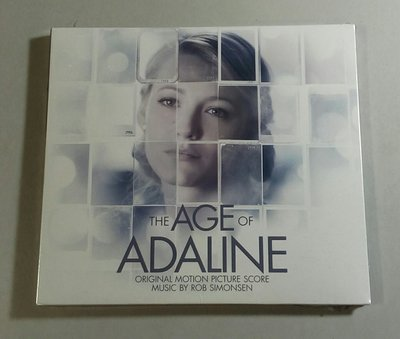 """時空永恆的愛戀-配樂版 The Age of Adaline""- Rob Simonsen, 全新美版,A63"