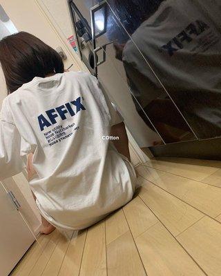 COtton男裝AFFIX WORKS KIKO風格 標語印花圓領短袖 T恤 男女情侶 ins同款