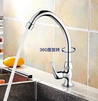 888利是鋪-單冷廚房水龍頭 面盆龍頭可旋轉洗菜盆洗碗池凈水器水龍頭#水龍頭