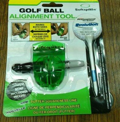 總統高爾夫(自取可刷國旅卡) Softspikes Golf Ball Alignment Tool 高爾夫球 劃線器