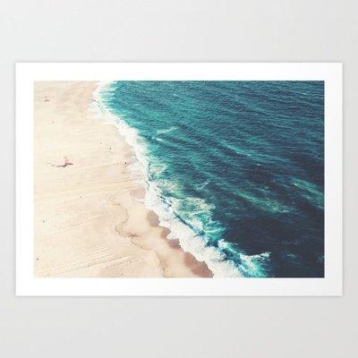 挂畫 電表箱畫 玄關畫葡萄牙海灘攝影 海濱沙灘風景 Society6 美國原版進口 旁白裝飾畫