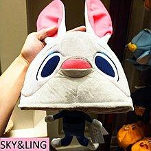 17-1001-11-香港迪士尼-瘋狂動物城兔子朱迪 3D造型毛絨公仔成人帽子