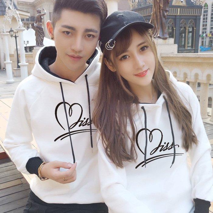 情侶裝 新款韓版寬松百搭 氣質情侶加絨連帽外套—莎芭