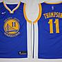 NBA勇士隊11號電繡版球衣 克雷 湯普森 Klay...