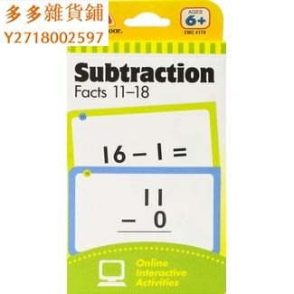 (MS)Evan-Moor Learning Line Flashcards Subtraction Facts 11【多多雜貨鋪】sfgh3549