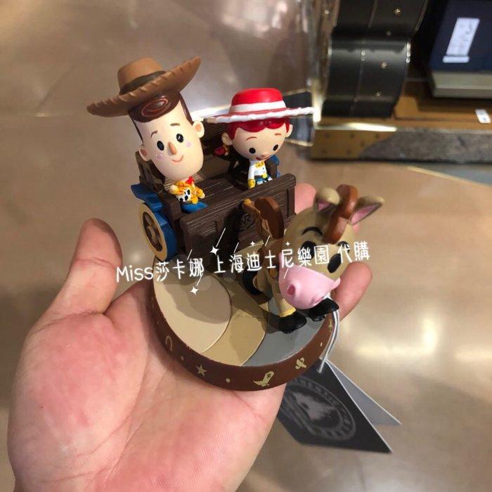 Miss莎卡娜代購【上海迪士尼樂園】﹝預購﹞玩具總動員4 胡迪 翠絲 紅心馬 馬車 Q版造型 公仔人偶擺飾