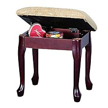 中華批發網:HD-26304-DW 英式古典-掀蓋化妝椅-咖啡色//化妝桌椅 掀蓋椅 鏡台