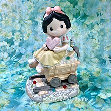Precious Moments 陶瓷公仔 白雪公主 採礦 珠寶 Disney 迪士尼