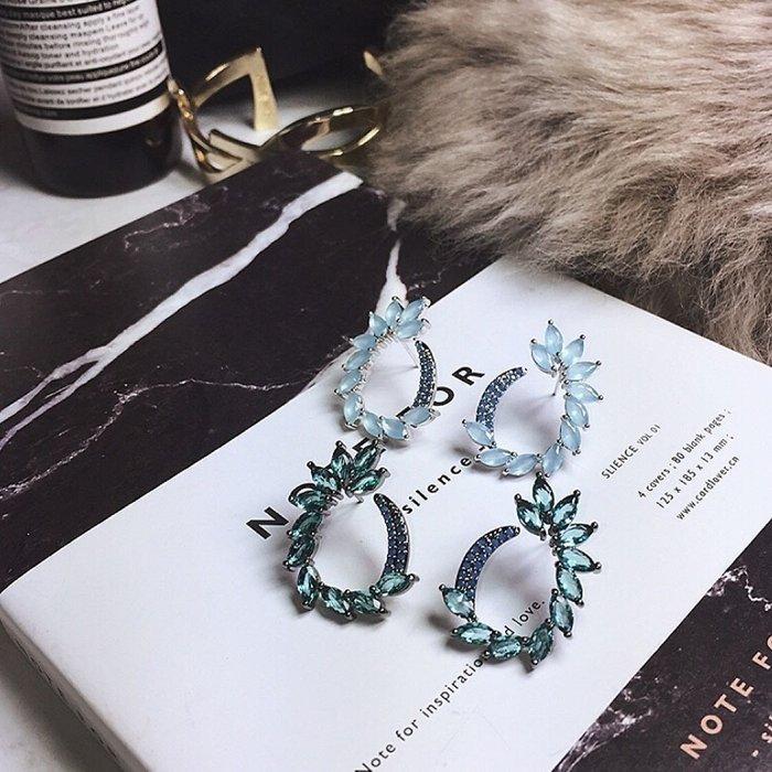 💎26、藍綠彩寶石性感別緻淑女耳環💎