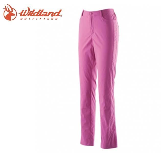 丹大戶外【Wildland】荒野 女彈性合身抗UV長褲 0A21333-09 桃紅色