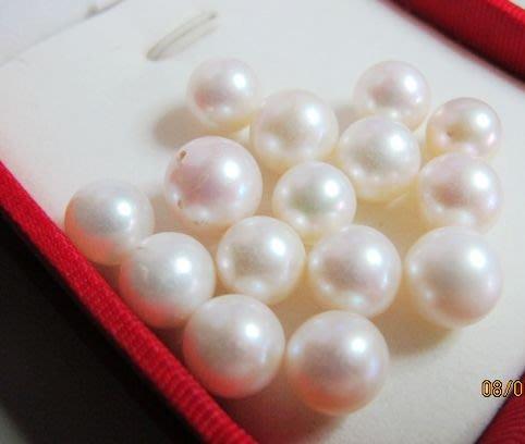 [一品軒珍珠促銷]3A++級正圓天然完美無暇南洋珍珠9-10mm
