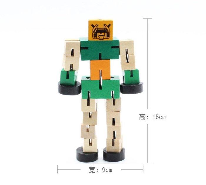 【夜市王】木製變形機器人 兒童動手拆裝機器人39元