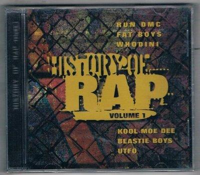 [鑫隆音樂]西洋CD-HISTORY OF RAP volume  I  {37492} 全新/免競標