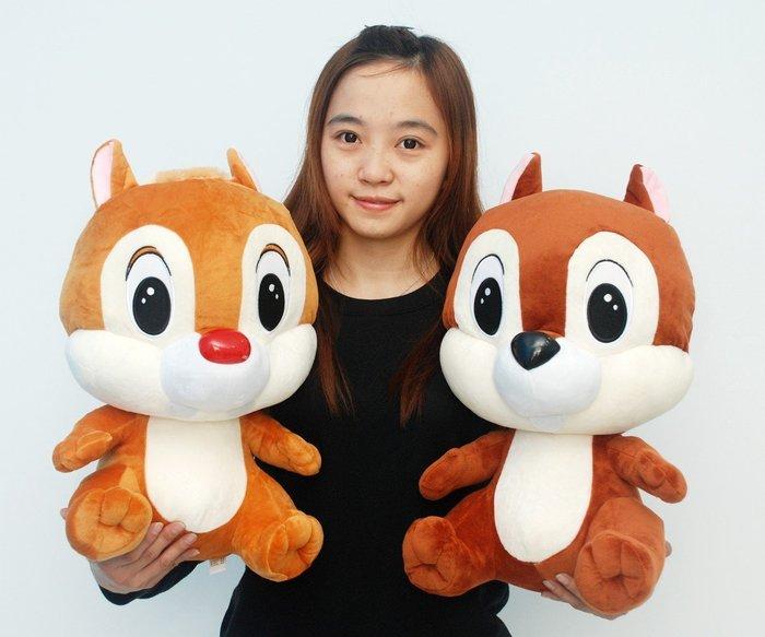 拉拉小站~可愛奇奇蒂蒂娃娃~高50公分~正版迪士尼~花栗鼠玩偶~熱門商品