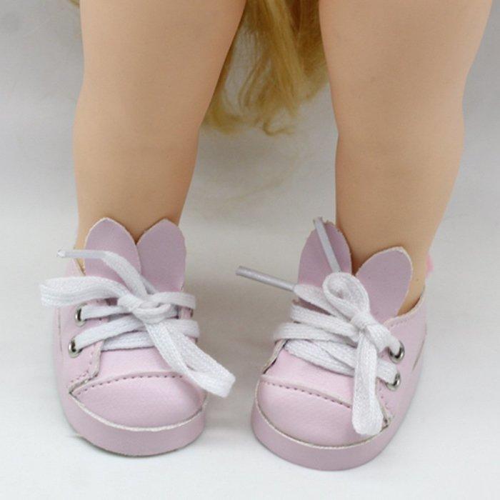 【小黑妞】小美樂迪士尼娃娃可穿鞋子-小美樂還可穿襪子-可愛兔子耳朵毛球鞋(不含娃娃)....【現貨-粉色兔子】