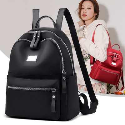 奇奇牛津布雙肩包女2021年新款韓版潮時尚百搭書包帆布小背包旅行包包