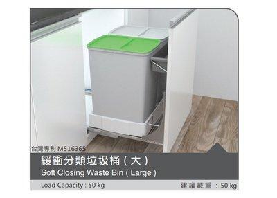 ╭☆魔法廚房【系統櫥櫃】☆FJ160J櫥櫃內專用 緩衝 加蓋垃圾桶~分類桶抽屜式 需自行搭配門板